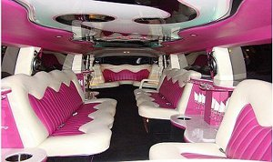 Pink Interior of our Hummer